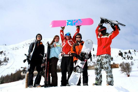 Snowboarding Lessons (from 8 y.) for Advanced Boarders