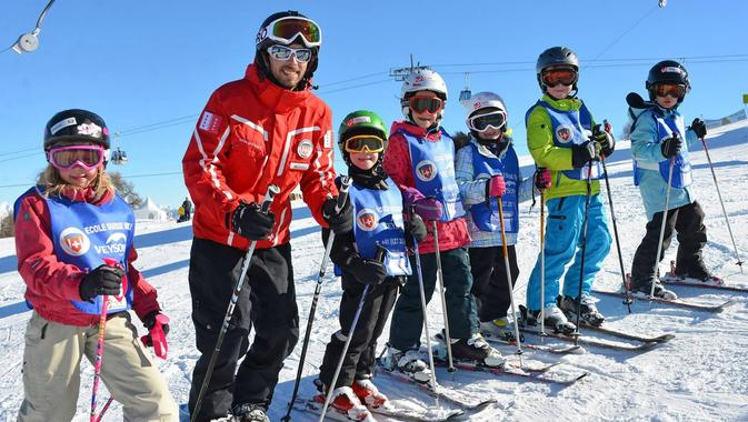 Kids Ski Lessons (6-12 y.) for Advanced Skiers - Full Day