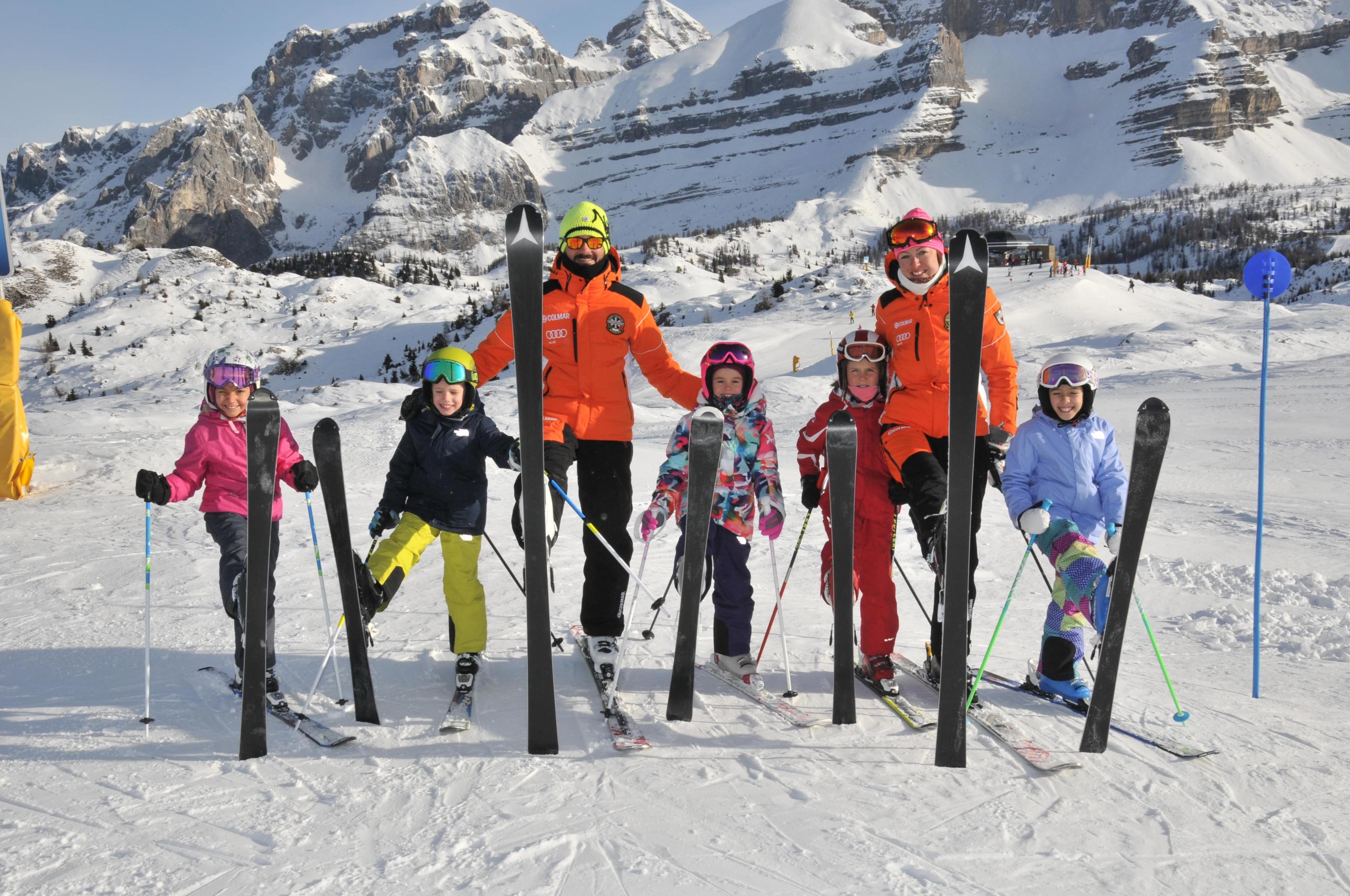 Kids Ski Lessons (4-12 y.) - Full Day