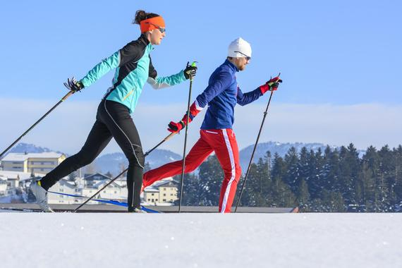 Cross-country skiing private lessons