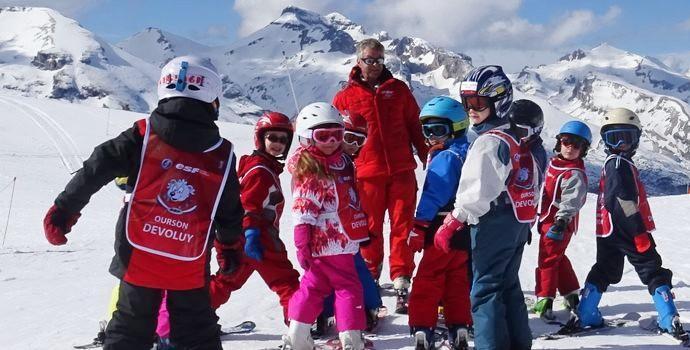 Kids Ski Lessons (6-12 y.) - Intermediate Skiers - February