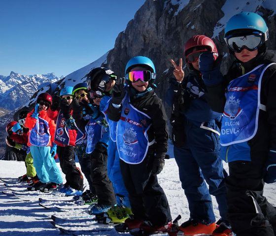 Kids Ski Lessons (6-12 y.) for Intermediate Skiers