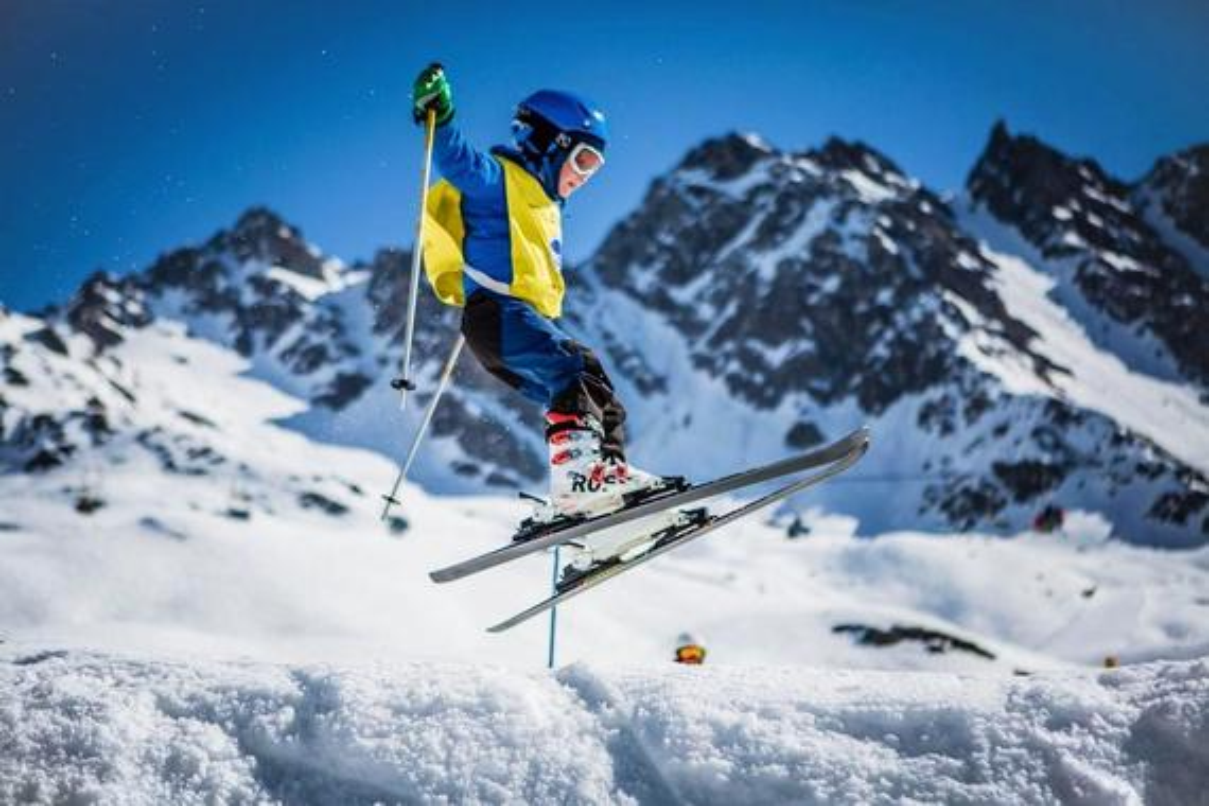 Kids Ski Lessons (6-12 y.) for Advanced Skiers