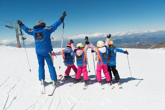 Kids Ski Lessons (5-12 y.) for Beginners in the Weekend