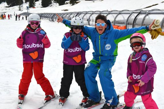Kids Ski Lessons (6-12 y.) for All Levels - February
