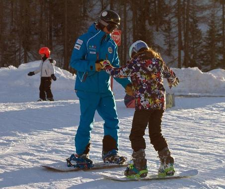 Kids Snowboarding Lessons (6-12 y.) - Holidays
