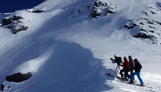 Off-Piste skiing with Thomas