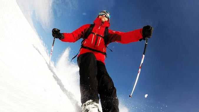 Skiing from beginners to pros