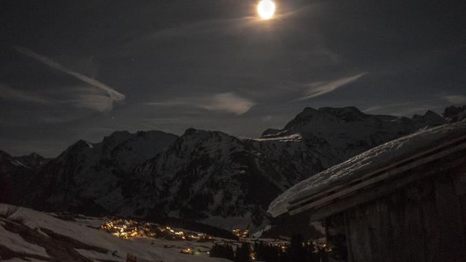 Ski Touring Group at Night - All Levels