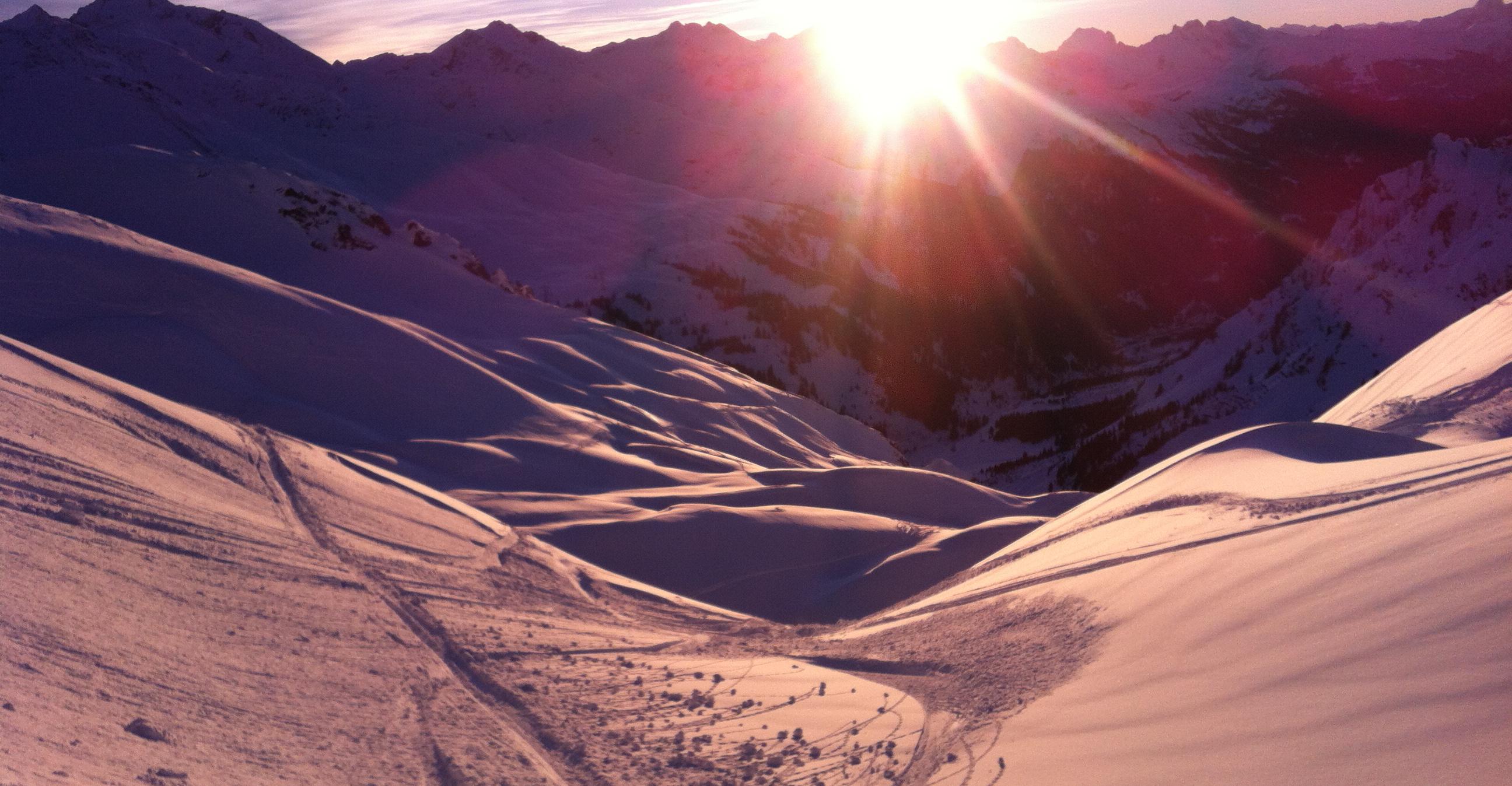 Skitouring in Stubai valley