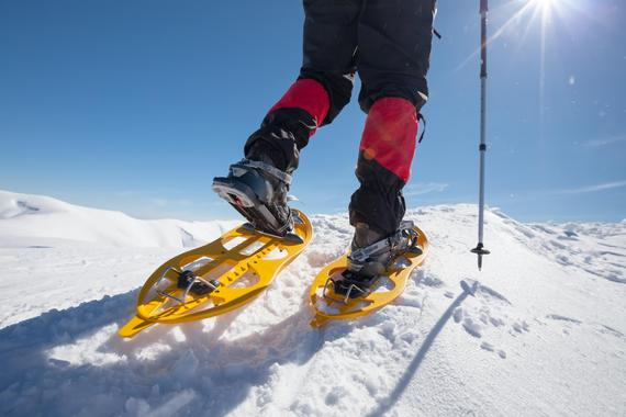 Snowshoe hiking private guiding