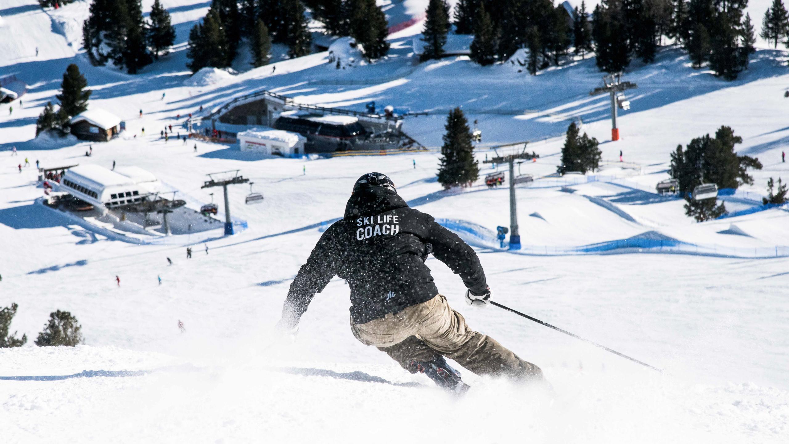 Early morning skiing