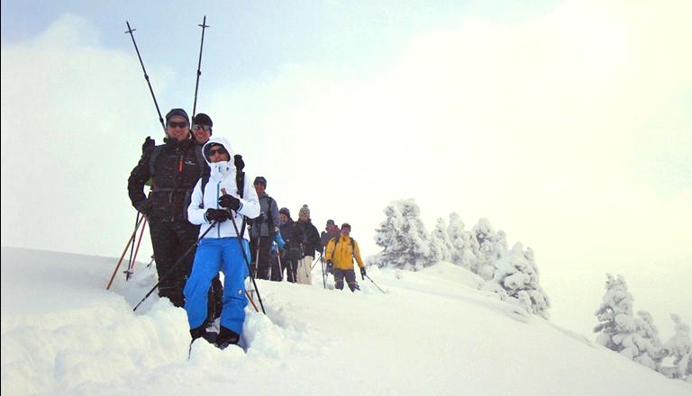 Snowshoeing with Kurt