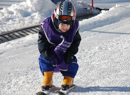 Skiing kids