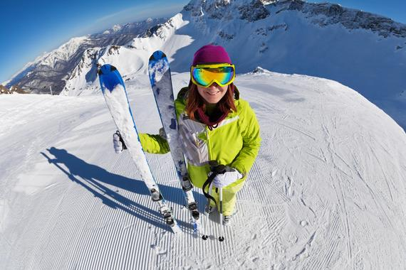 Skiing private lessons