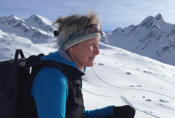 Snowshoe hiking in the Engadin area